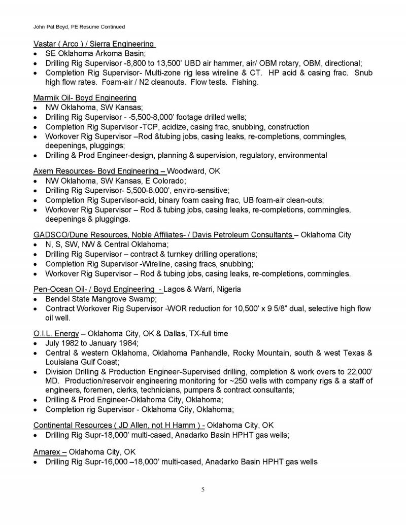 Resume Page 5