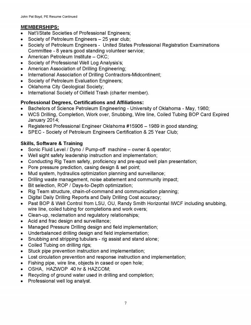 Resume Page 7